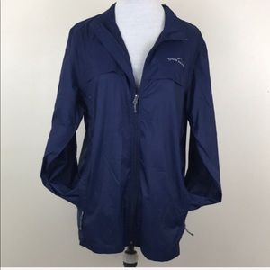 Eddie Bauer Blue Gray Wind Breaker Light Jacket